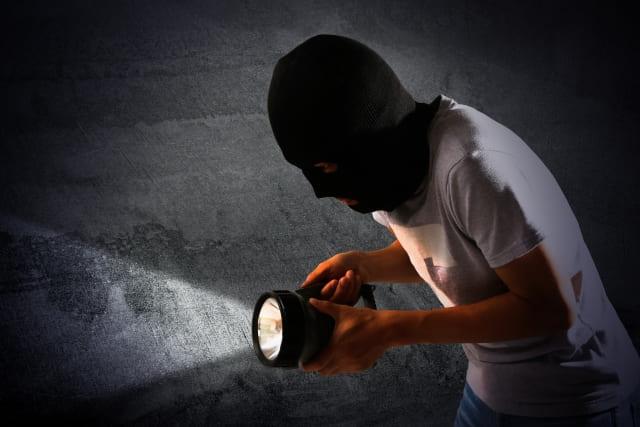 マスクをかぶった泥棒